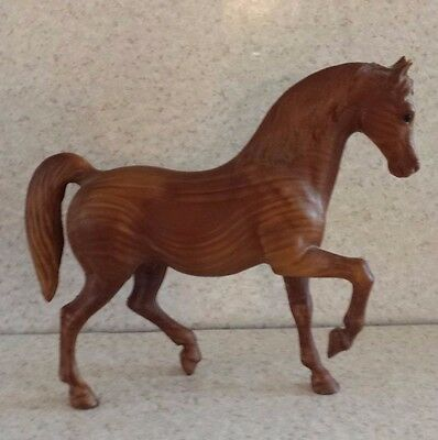 "VINTAGE WOODGRAIN BREYER HORSE 10"" LONG Large Brown Horse BREYER MOLDING CO."