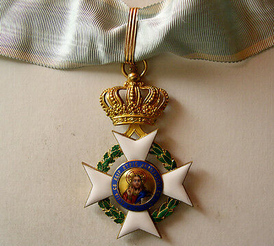 PCW-AN217-GREECE. Hand painted enamel, The Order of the Redeemer18K gold. Rare.