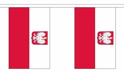 Poland Polish State Eagle Polyester Material Flag Flags Bunting Various Sizes
