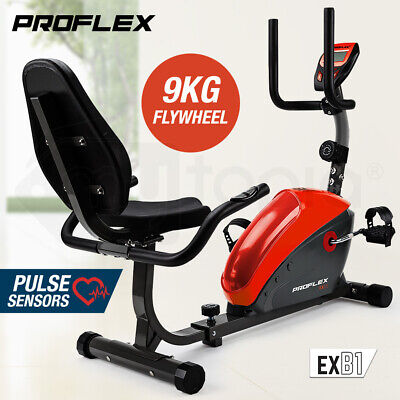 ProFlex Recumbent Bike Magnetic with LCD Display Exercise Fitness Cycle Trainer
