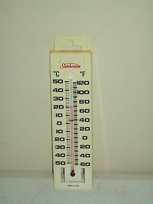 Vintage Sunbeam Thermometer classic collectible Working Sunbeam Ad piece
