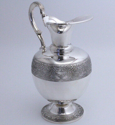 Sterling Silver Wine Pitcher Jug Milano, Italy