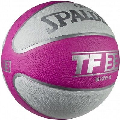 SPALDING TF33 Pink/White Outdoor Basketball (size 6)