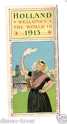 Vintage Advertising Trade Card HOLLAND 1913 Calendar See the Peace Palace