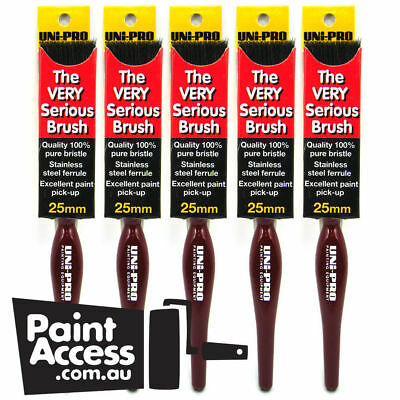 Paint Brushes/ Pack of 5 Uni-Pro 'The Very Serious' Brushes 25 mm