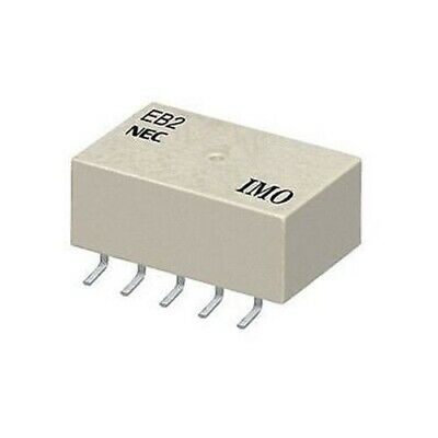 2x NEC RELAY EB2-5NU EB2-5, Low Signal Relays - PCB 5VDC NON-LATCH