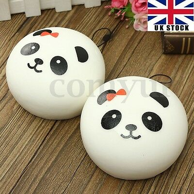 10cm Squishy Charms Cell Phone Kawaii Soft Panda Bag Strap Pendant Keychain Ring