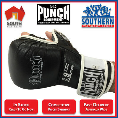 PUNCH 904PBM WEIGHTED 9oz MMA SPARRING GRAPPLING TRAINING MITTS SIZE XL ONLY