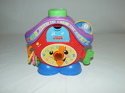 Multi - Colour Peek A Boo Clock Laugh & Learn - Fisher Price