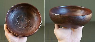 Very Fine Beautiful Antique Vintage Korean Ritual Ceremony Wooden Bowl Signed