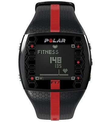 Polar FT7M Heart Rate Monitor Computer Watch  Black/Red