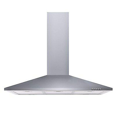 electriQ 90cm Traditional Chimney Cooker Hood in Stainless Steel  Extractor Fan