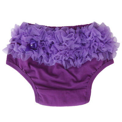 0-2Y Toddler Girl's Frilly Purple Knickers Panties Bloomers Nappy Cover Tutu