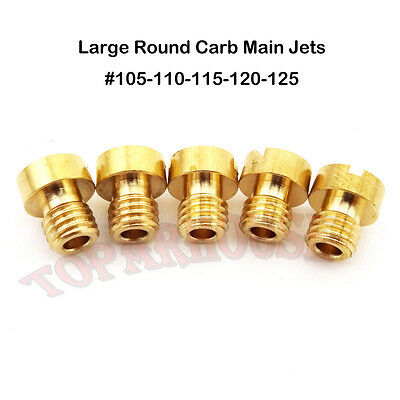 Pit Bike Carb Main Jets Large Round For Mikuni Carburetor #105 #110 #115 120 125