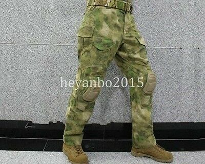 TACTICAL MILITARY SHOOTING G3 COMBAT PANTS WITH KNEE PADS AIRSOFT PANTS - Camo