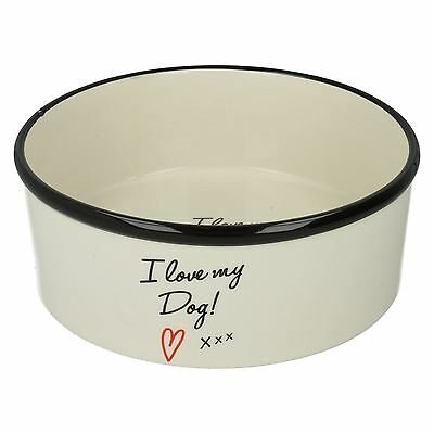 Lesser&Pavey I Love My Dog Food Ceramic Bowl Cream The Style-LP27650