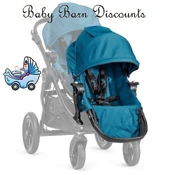 Baby Jogger City Select Second Seat in Black, Charcoal, Silver, Teal