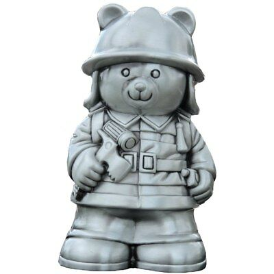 NEW Fireman Teddy Money Box Pewter Finish from Baby Barn Discounts