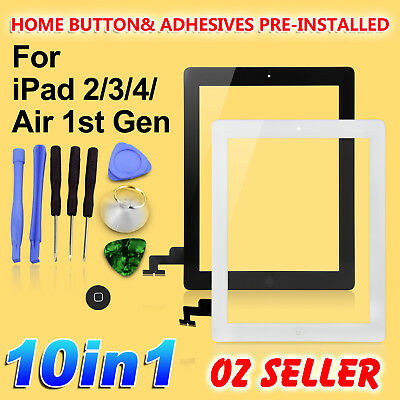 Replacement Digitizer Glass Screen Repair Tool Kit for Apple iPad 2 3 4 iPad Air