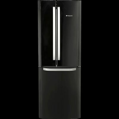 Hotpoint FFU3DK Black American Style Frost Free 318 Litres Fridge 159L Freezer