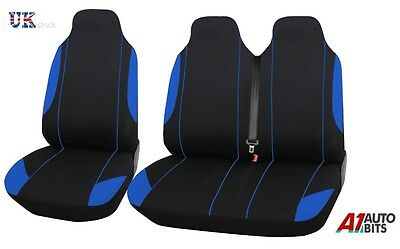 Ford Transit Custom  Seat Covers Set Blue Comfort Fabric 2+1 Van New