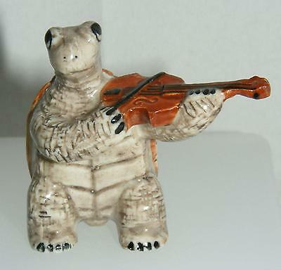 Klima Miniature Porcelain Animal Musician Tortoise with Violin K144