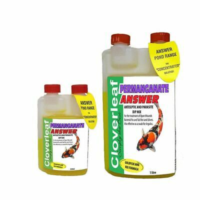 Cloverleaf Permanganate Answer Treatment Pond Fish Water Antiseptic Wounds Ulcer