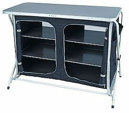 Royal Easy Up Folding Storage Unit Shelves Cupboard Camping Portable 355415