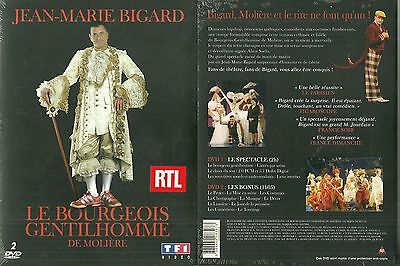 LE BOURGEOIS GENTILHOMME avec JEAN MARIE BIGARD / MOLIERE / 2 DVD - NEUF EMBALLE