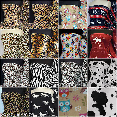 Polar fleece anti pill fabric Premium Quality soft material animal print