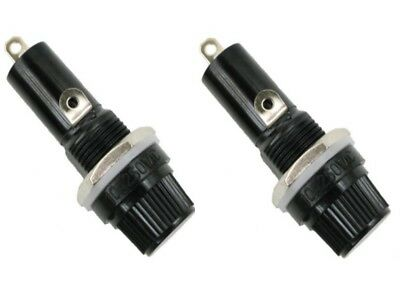 2 X Fuse Holder Chassis Panel Mount 5mm x 20mm Glass Fuse A305