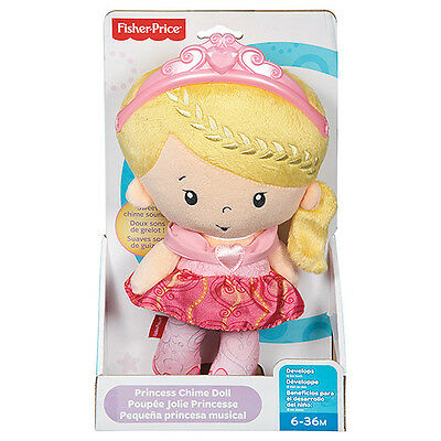 Brand New Fisher Price Princess Mommy - Princess Chime Doll for Ages 6-36 Months