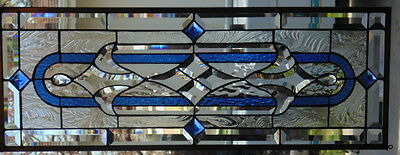 """Stained Glass Window Hanging 32  X 11 3/4"""""""