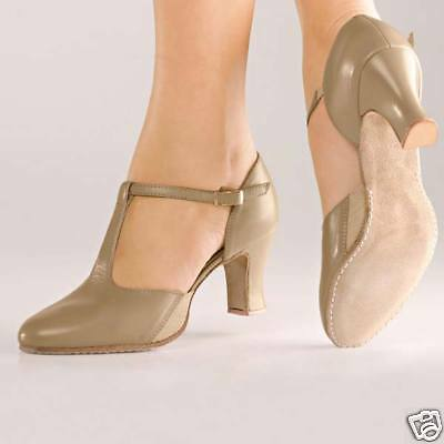 NEW CH 57 So Danca T Strap, Suede Sole Character Shoes