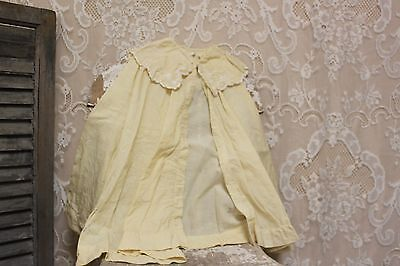 Antique Vintage Child Size Off White Cotton Embroidered Collar Shawl Cape