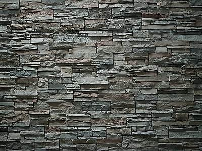 196X 90 X 1Mm Stone/brick Wall Treated Paper Bumpy Sheets 3D  Look & Feel