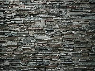 196X 55 X 1Mm Large Stone/brick Wall Treated Paper Bumpy Sheets 3D  Look & Feel