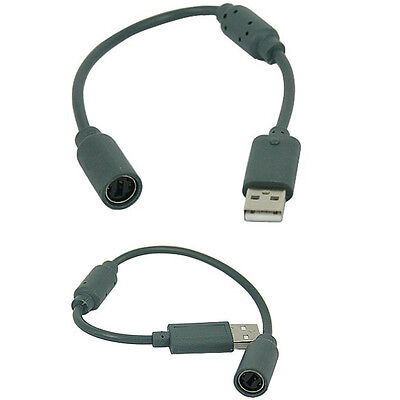 Wired Game Controller Connector USB Breakaway Cable Cord Adapter for XBOX 360 US