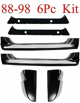88 98 6Pc Extended Rocker, Inner Rocker & Cab Corner Set, Chevy GMC Truck 1.2MM