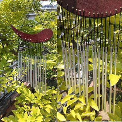 Wind Chime WOOD Metal Tube Chimes Healing Sound Garden Outdoor Yard Living Decor
