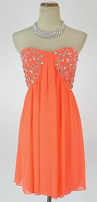 6b873a068 Morgan & Co $150 Evening Prom Formal Cruise Short Cocktail Dress size 3  Coral