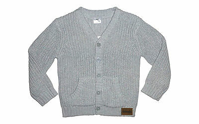 Brand New w Tags Baby Toddler Grey Thick Knit Style Cardigan Button Up Jacket