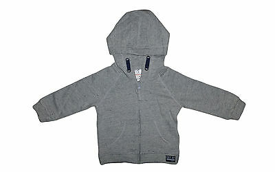 New with Tags F&F Baby Unisex Grey Marle Hoodie Hoody Hooded Jumper Size 6-9M