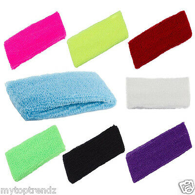 Unisex Stretchy Sports Sweat Headband Sweatbands Head Band Tennis Badminton Yoga