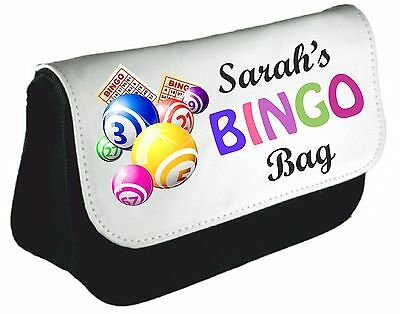 Personalised Bingo Queen Pencil Case Mom Nan Bag Dabber xmas Birthday Gift Des 3