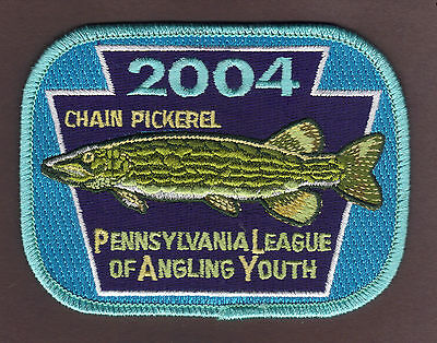 Pa Pennsylvania Fish Commission NEW 2004 Chain Pickerel Youth Fishing PLAY Patch