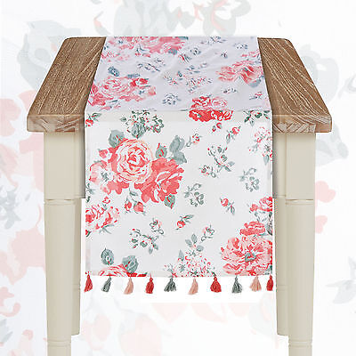 Runner Shabby Chic Blanc Mariclo Floral Palette Collection 45 x 140