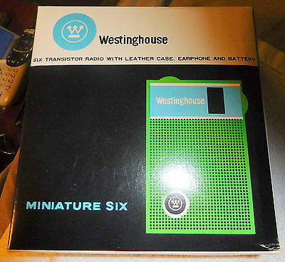 Vintage westinghouse h902p6gp miniature six empty green transistor radio box
