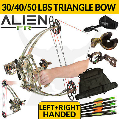 FIELD READY ALIEN CAMO 30-50lbs Triangle Compound Bow Left Right Handed Archery