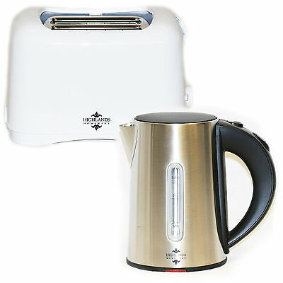 Electric Kettle And Toaster Set Kitchen Cordless Jug 0.8 L and 2 Slice Toaster